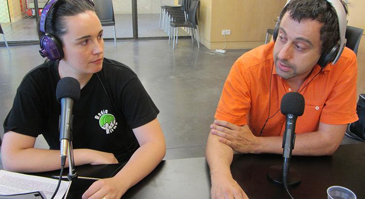 Miriam Meda (@RadioRitmoGTF) y Javier García (@almenararadio)