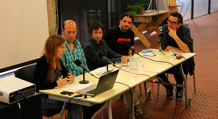 Ana Franco (coffee&wine), Raúl Domingo (Know Media), Álex García (Radio Gladys Palmera), Ray Sánchez (Radio Enlace) y José Ángel Esteban (Universidad Carlos III de Madrid)